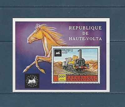 Haute Volta  bloc  train locomotive  1975  num: BF 5AC **
