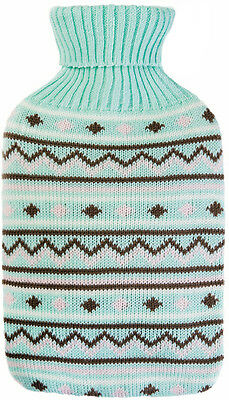 Fashy Latex Free Knitted Hot Water Bottle Mint Green