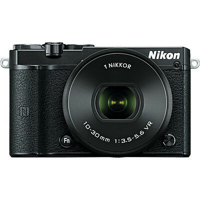 Nikon 1 J5 Mirrorless Digital Camera with 10-30mm Lens (Black)