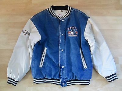 Disney Store Eeyore Vintage Embroidered Medium Varsity Denim Jacket