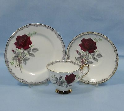 Royal Stafford Roses To Remember Bone China Tea Cup Saucer & Plate