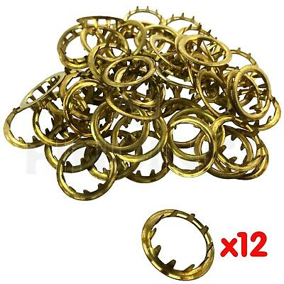 New Grommets Clock Key Hole Dial Brass Finish 12mm Antique clock repair 6 pieces