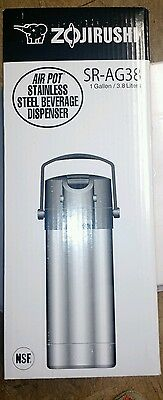 Zojirushi SR-AG38 Stainless Steel Vacuum Air Pot Beverage Dispenser 128oz 1 gall