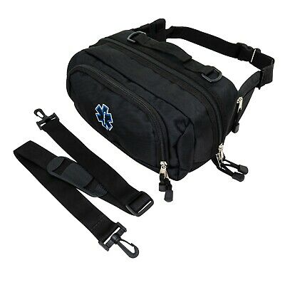 LINE2design First Aid Fanny Pack - First Responder EMS EMT Paramedic Bag - Black