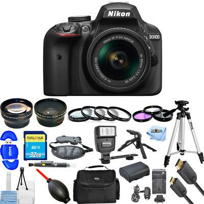 Nikon D3400 DSLR Camera with 18-55mm Lens (Black) PRO BUNDLE BRAND NEW