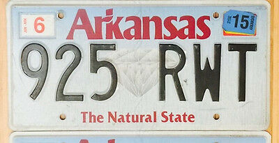 Arkansas License Plate - Diamond / The Natural State - Pick a Plate