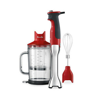 NEW Breville the Control Grip Stick Blender Cranberry (RRP $110)