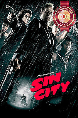 New Sin City Original Frank Miller Movie Film Home Wall Art Print Premium Poster