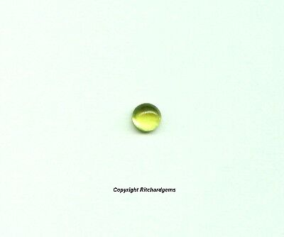 Rare 3 mm Round Lime Green Vesuvianite Idocrase Cabochons For Three