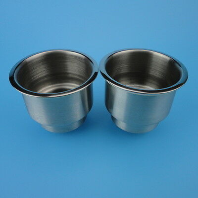 AU NEW ARRIVAL 2PCS Stainless Steel Cup Drink Holder For Mraine Boat Car