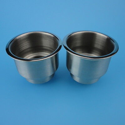 NEW ARRIVAL 2PCS Stainless Steel Cup Drink Holder For Marine Boat Car