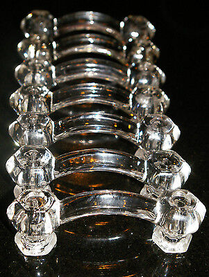 "(8 available) ONE Clear Glass Replacement Drawer Handle Pulls. 3"" Centers 4""Wide"