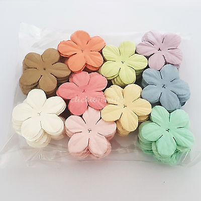 100 Paper Flowers Scrapbook Cardmaking Birthday Party Craft Supply ZQP20-426