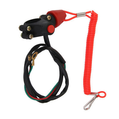 Universal Boat Outboard Engine Stop Safety Kill Switch Tether Cord Lanyard