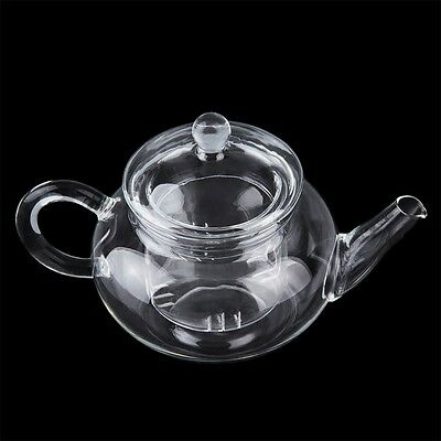 Heat Resistan Glass Teapot With Infuser Coffee Tea Leaf Herbal Pot 250ml OG