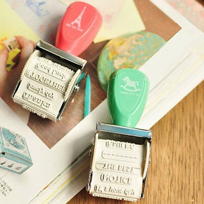 Lovely Date Roller Wheel Seal Cartoon DIY Stamp School Supply Diaries Decoration