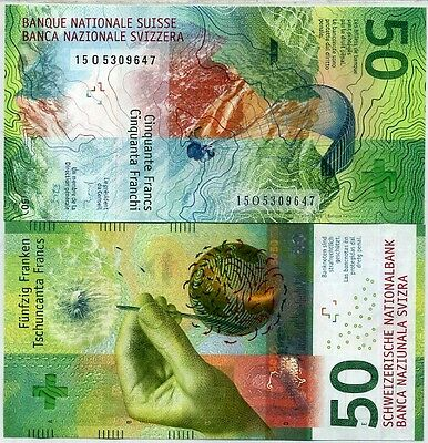 Switzerland 50 Francs 2016 P New Design Unc
