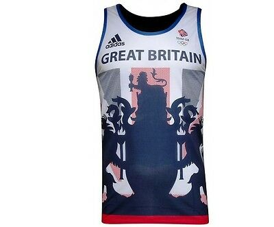Adidas Team Gb Rio 2016 Running Singlet/vest -Bnwt-  Various Sizes Last Few!