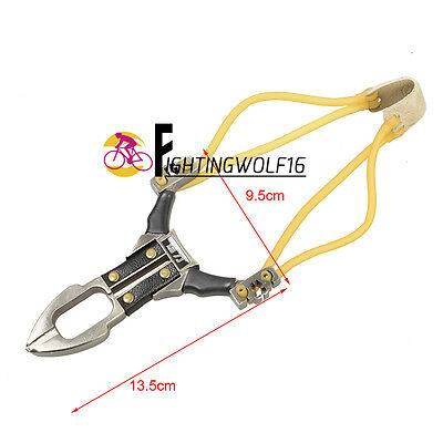 Tactical Combat Aluminum Alloy Powerful Slingshot Military Durable Catapult