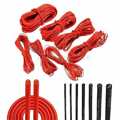 1/2/5/10M Meter Red/Black Flexible Silicone Wire Cable 10/12/14/16/18/20/22 AWG