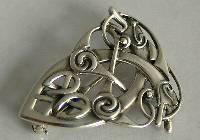 "Scottish Sterling Silver Ola Gorie Orkney Zoomorphic ""Coppergate""  Brooch 1997"