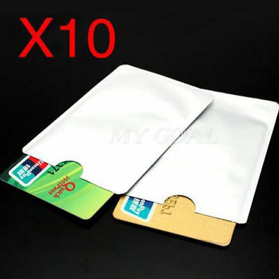 10 RFID Secure Bank/Credit Card Protective Sleeves Block Wireless Signals Owl
