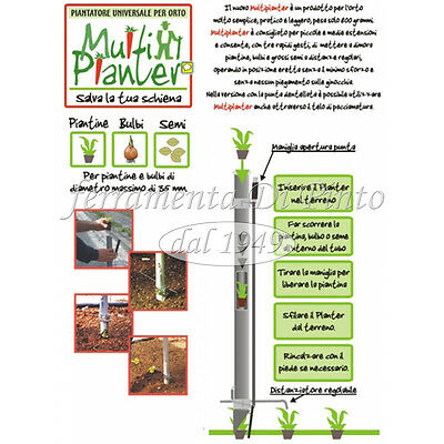 Piantatore Small Mm 35 Multiplanter Professionale Pianta Bulbi Piantine Sementi