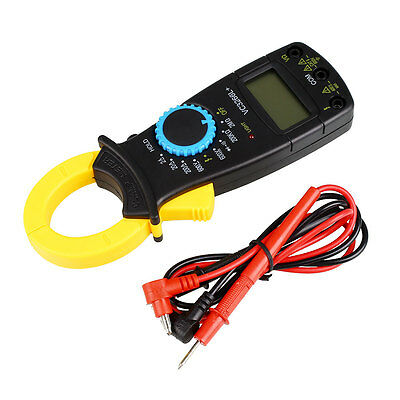 LCD Digital Clamp Multimeter AC DC Volt Amp Ohm Electronic Tester Meter