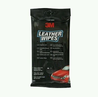 3M Microfibre Glass/Leather/Dashboard Car Wipes (25 Pack)