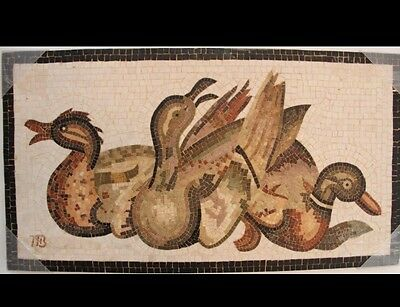 Roman style Mosaic Stone Panel with Ducks