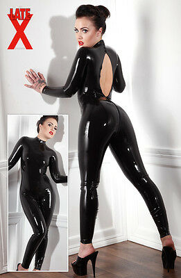 Overall  LATEX CATSUIT SCHWARZ XL
