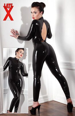Overall  LATEX CATSUIT SCHWARZ 2XL