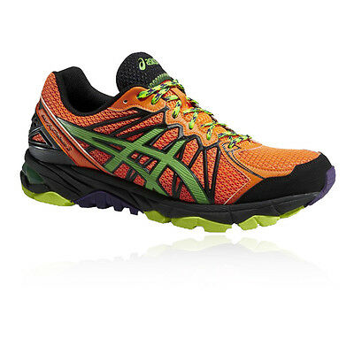 Asics Gel-Fujitrabuco À Hommes Orange Support Trail Running Chaussures Baskets