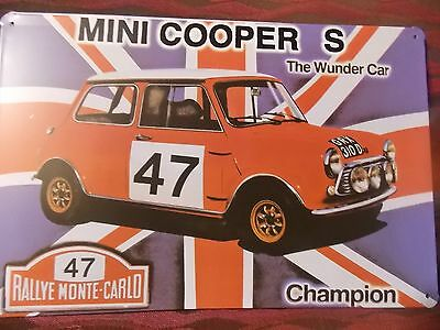 mini cooper s NOVELTY  MANCAVE SIGN PLATE 30 CM BY 15 CM