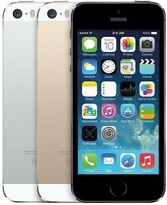 Apple iPhone 5s 16GB 32GB 64GB AT&T Smartphone 4G LTE Gold Space Gray Silver
