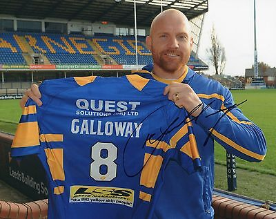 "Keith Galloway Hand Signed Leeds Rhinos 10"" x 8"" Rugby League Photo."