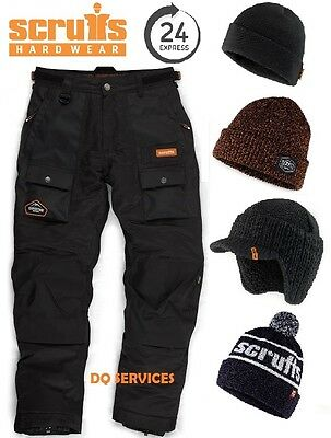 Scruffs Expedition Thermo Thermal Lined Trousers Waterproof Breathable + Hat