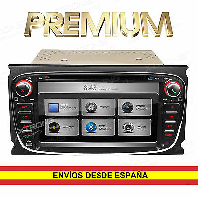 "Autoradio Ford CD DVD 7"" 2DIN GPS Bluetooth WiFi 3G Canbus Xtrons Color Negro"