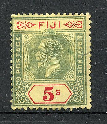 Weeda Fiji 106 Fine mint 5sh green and scarlet on yellow KGV issue CV $47.50