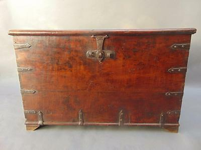 19th Century Colonial Hardwood Iron Bound Chest
