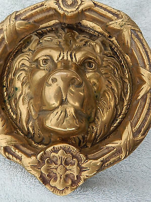 Solid Brass Lions Head Door Knocker