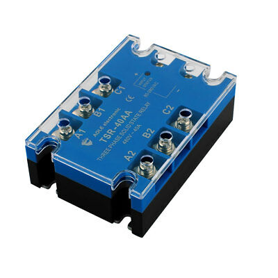 TSR-40AA 80-280VAC to 480VAC 40A Three Phase Solid State Relay Module AC to AC