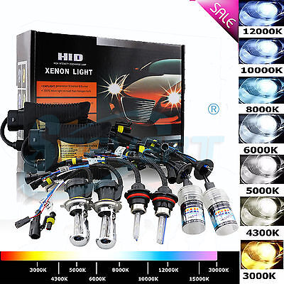 35W 55W HID Xenon Headlight Conversion KIT H1 H3 H4 H7 H8 9006 9004/7 D1S Hi/Lo