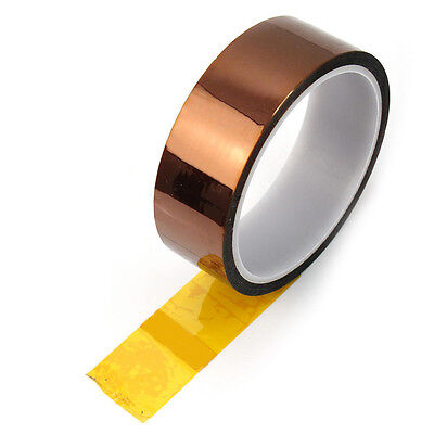 Golden High Temperature Heat Resistant Kapton Tape Polyimide Tool 5mm New