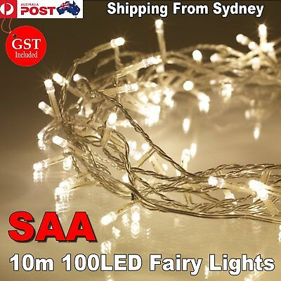 SAA 10M 100LED Warm White String Fairy Lights Wedding Party Christmas Decoration