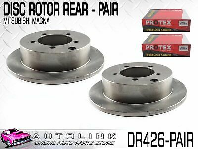 Rear Disc Brake Rotors To Suit Mitsubishi Magna Te Tf Th Tj Tl Tw 4Cyl & V6 (X2)
