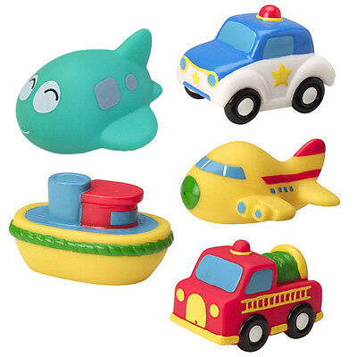 Lovely Soft Plastic Transport Model Play In The Water Baby Kids Bath Toys Random