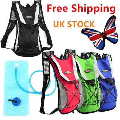 2L Hydration Pack Water Rucksack/backpack Bag Cycling Hiking Camping Brt