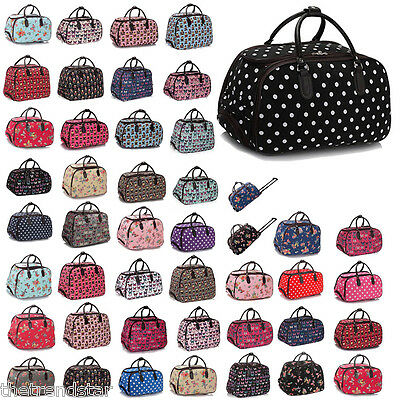 Ladies Travel Bags Holdall Hand Luggage Women's Weekend Handbag Wheeled Trolley