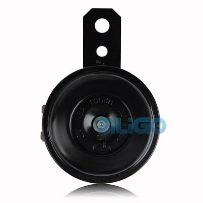 Black Replacement Electric Horn with Bracket Motorcycle Bike Loud 105db 12V
